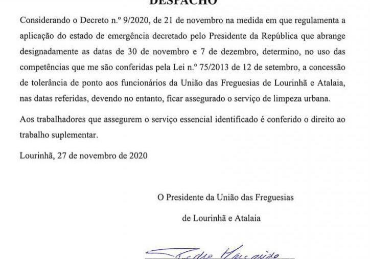 Despacho_Tolerancia_Dez2020
